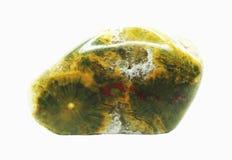 Achat mit geologischem Kristall des Chalcedony Stockfotos