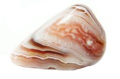 Achat mit geologischem Kristall des Chalcedony Stockfoto