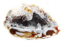 Achat mit geologischem Kristall des Chalcedony Lizenzfreie Stockfotografie