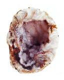 Achat mit geologischem Kristall des Chalcedony Stockbild