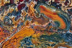 Achat mit natürlichen Farben Stockfotos