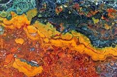 Achat mit natürlichen Farben Stockbild