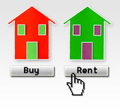 Achat ou loyer : Je choisis de louer ! Image libre de droits