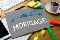 Achat résidentiel Agreemen de prêt d'hypothèque d'investissement de propriété Photo libre de droits
