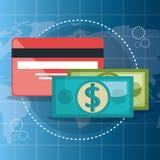 Achat sur la ligne avec la carte de crédit illustration de vecteur