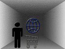 Achat sur le Web illustration libre de droits
