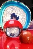 Achat und Kristallformulare Stockbild