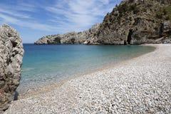 Achata-Strand auf Karpathos, Griechenland Stockbilder