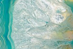 Achatkristall-Schnittabschluß oben Stockfoto