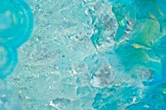 Achatkristall-Schnittabschluß oben Stockbild