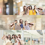 Achats asiatiques de femme photo stock