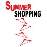 Achats d'été avec des cintres Photo stock