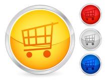 achats de chariot de 2 boutons Photographie stock libre de droits