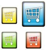achats de chariot de boutons Illustration Libre de Droits