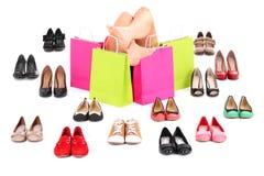 Achats de chaussure Photo libre de droits