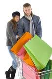 achats de couples Image stock