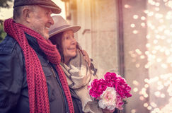 Achats de couples de Valentine Photos libres de droits