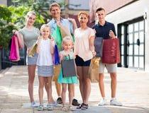 achats de famille de ¿ d'ï» dans la ville Photographie stock libre de droits