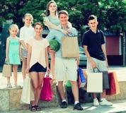 achats de famille de ¿ d'ï» dans la ville Image stock
