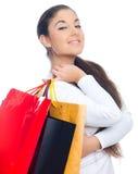 achats de fille Image stock