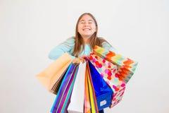 Achats de l'adolescence de fille Photos libres de droits