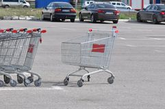 achats de l'image 3d produits par chariot Photos stock