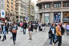 Achats de Madrid Photographie stock