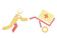 Achats de médicament Images stock