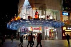 Achats de Noël à Chengdu Photo libre de droits