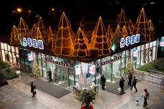 Achats de Noël à Chengdu Photographie stock