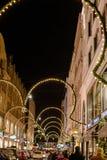 Achats de Noël à Hambourg Photographie stock