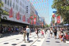 Achats de Noël à Melbourne image libre de droits