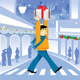 Achats de Noël Image libre de droits