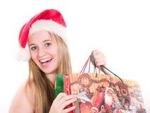 Achats de Noël Photo stock