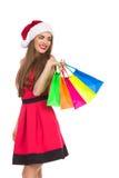 Achats de Noël, idée pour votre conception Images libres de droits