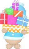 Achats de Noël, idée pour votre conception illustration stock