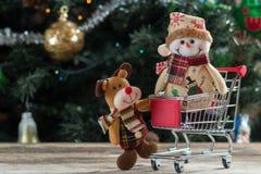 Achats de Noël, idée pour votre conception Photo stock