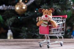 Achats de Noël, idée pour votre conception Photos stock