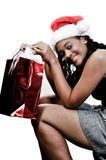 Achats de Noël Images libres de droits