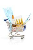 Achats de pharmacie Photographie stock libre de droits
