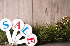Achats de vente de Noël Traîneau rouge complètement des boîte-cadeau Images libres de droits