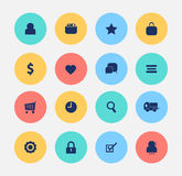 Achats de Web d'icône de commerce électronique Photographie stock libre de droits