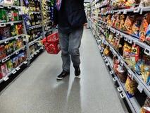 Achats de week-end de supermarché Photo libre de droits