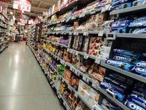 Achats de week-end de supermarché Images libres de droits