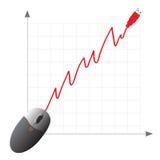 achats en ligne de commerce électronique concentré Photo stock
