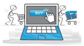 Achats et commerce électronique illustration libre de droits
