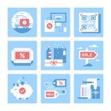 Achats et commerce Photo stock