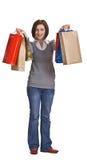 achats heureux photographie stock