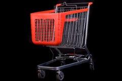achats noirs de chariot de fond Photographie stock libre de droits