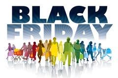 Achats noirs de vendredi Photo stock